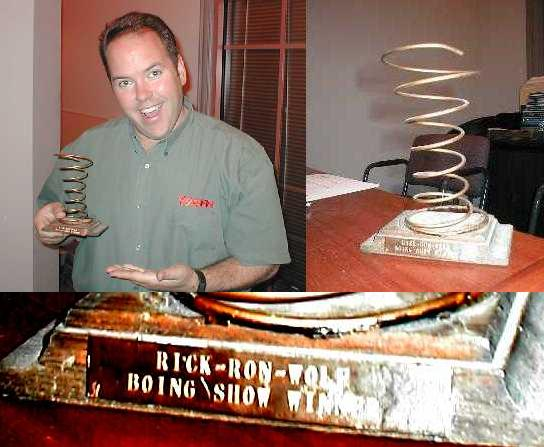 Bill Drace and trophy