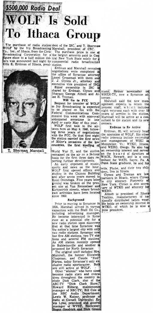 Syracuse Post Standard 3/12/57